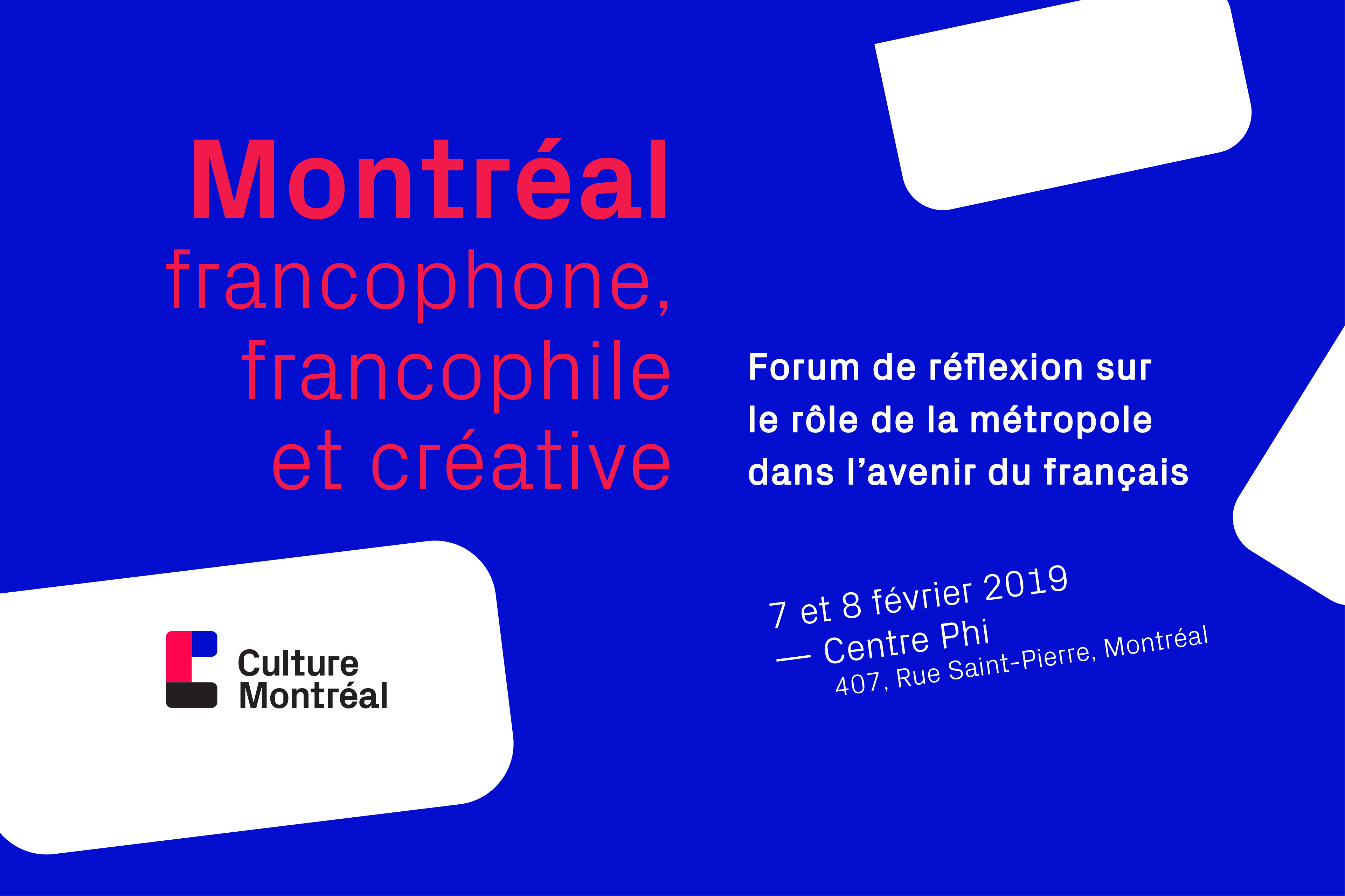Forum Montréal Francophone Francophile Et Créative